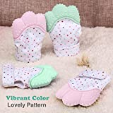MoMo Mitt Baby Teething Mittens for Babies Soothing Pain Relief,Teething Mitt Teether Gloves BPA Free, massage teether Mitt, teething Toys, infant for 3-12 months baby