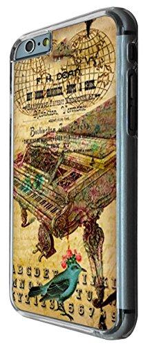 540 - Vintage Shabby Chic Victorian Piano Floral Roses Design iphone 6 6S 4.7'' Coque Fashion Trend Case Coque Protection Cover plastique et métal