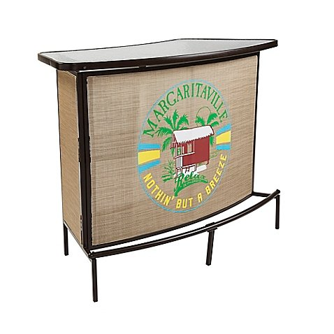 Sling Bar Crafted With A Steel Frame And All-weather Fabric in Brown by Margaritaville