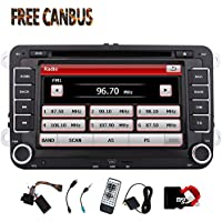 Eincar Double Din Car Stereo Bluetooth 7 Touch Sreen Head Unit For VW GOLF 5 6 POLO JETTA TOURAN EOS PASSAT CC TIGUAN SHARAN SCIROCCO Caddy + CANBUS DVD Player Multimedia System Support GPS Navi