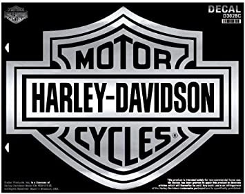 Harley Davidson Decal Bar Shield Chrom Harley Davidson Auto
