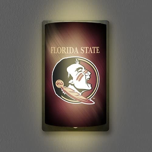 12.5 x 7.5 Mancave Light Team Color Party Animal NCAA Florida State Seminoles Unisex Florida State Seminoles MotiGlow Shade//Sleeve Wall Light