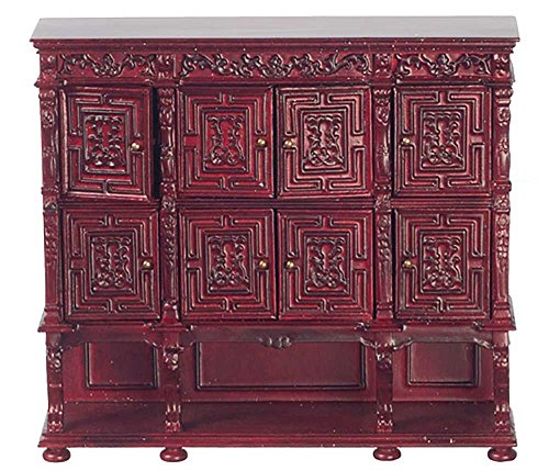 (Melody Jane Dollhouse Carved Panel Chest Mahogany JBM Dining Room Furniture)