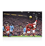 Autographed Wayne Rooney Picture - 12x8 Overhead Kick - Autographed Soccer Photos
