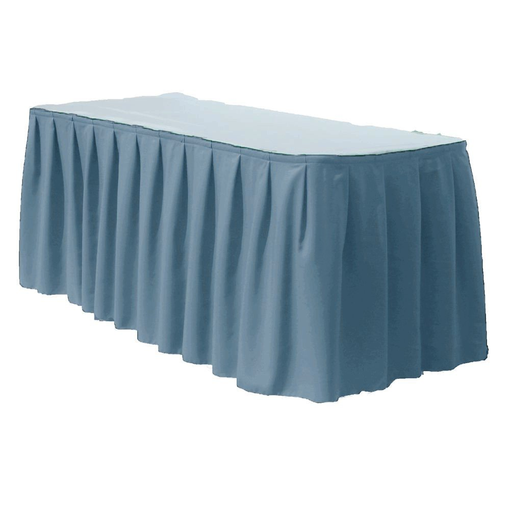 By ADD&SHIP Table Skirt Polyester 17ft (Steel Blue) by ADD&SHIP