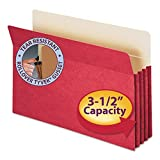 Smead Tuff Pocket Colored Top Tab File Pocket , Red by Smead