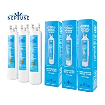 3 X Neptune ULTRAWF Frigidaire KENMORE 46-9999 242017800 242017801 PS2364646 A0094E28261 replacement Refrigerator Ice and Water Filter Cartridge (Pack of 3)