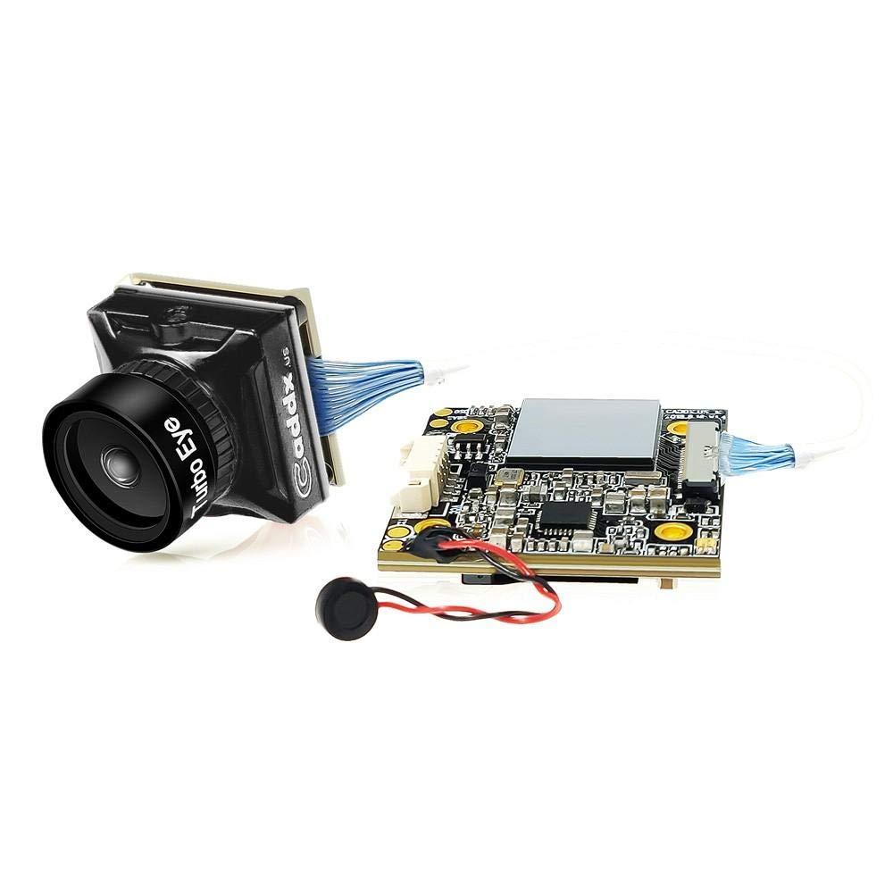 BeesClover Caddx Turtle V2 1080p 60fps FOV 155 Degree Super WDR Mini HD Camera OSD Mic for RC Drone Black