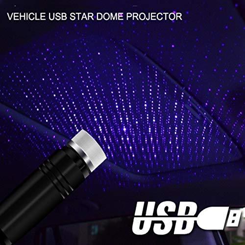 Auto Starlight Projection LED-Licht Plug-and-Play-Auto und Haus Decke Romantische USB-Nachtlicht Auto-Atmosph/äre Lampe Innenraum Ambient Star Light Blau