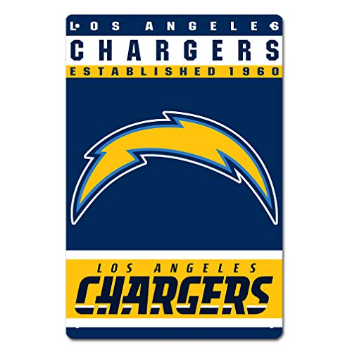 - MamaTina Custom San Diego Chargers American Football Team Design Metal Tin Signs for Home Wall Decor Size 12x8 Inches