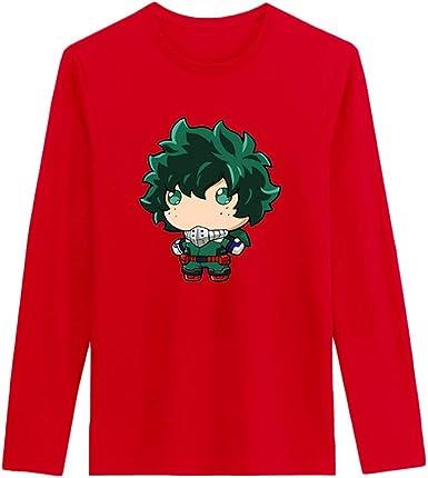 My Hero Academia Manga Larga Camiseta Algodón cómodo Manga Larga Camiseta Estampada Simple Moda Blusas clásicas: Amazon.es: Ropa y accesorios