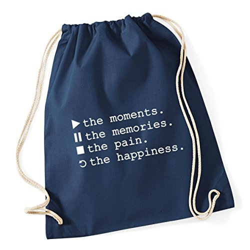 Moments Play Cotton Memories Sack HippoWarehouse Pause Gym Pain Navy Replay 37cm Drawstring Bag Symbols Happiness Control The x 12 French litres School The The 46cm Kid The Stop qAEdwC