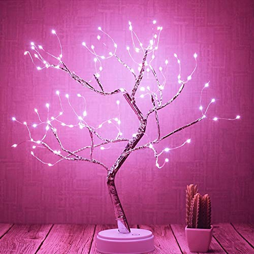 ALULA Lighted Tree Led Bonsai String Light Battery/USB Operated Tree Lights for Indoor Decoration and Gift