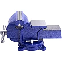 "Goplus 5"" Mechanic Bench Vise Table Top Clamp Press Locking Swivel Base Heavy Duty"