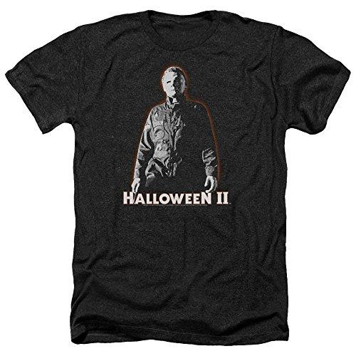 Halloween Ii Michael Myers Unisex Adult Heather T Shirt for Men and Women, Medium Black