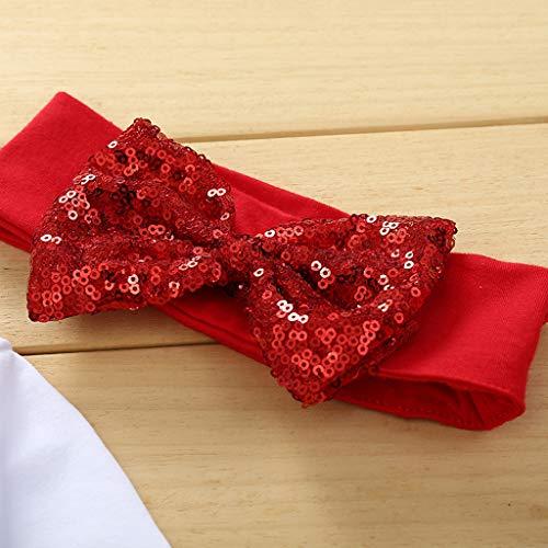Oldeagle 4PCS Newborn Toddler Baby Girl Christmas Letter Romper Tops Tutu Skirt Hairband Socks Clothes Set