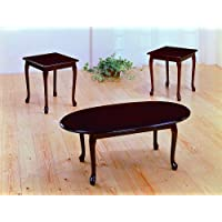 Cherry Traditional 3Pc Ocassional Table Set By Crown Mark Furniture # 2213SET