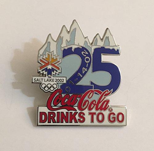 (Rare Coca-Cola Drinks To Go Salt Lake City Winter Olympics Countdown Pin LE/500-25 Days Left)