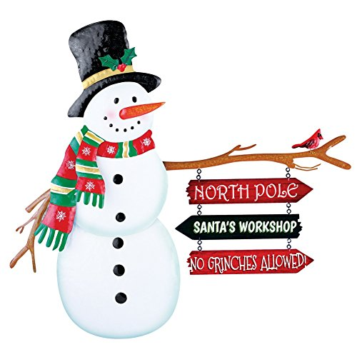North Signs Snowman Outdoor Stake