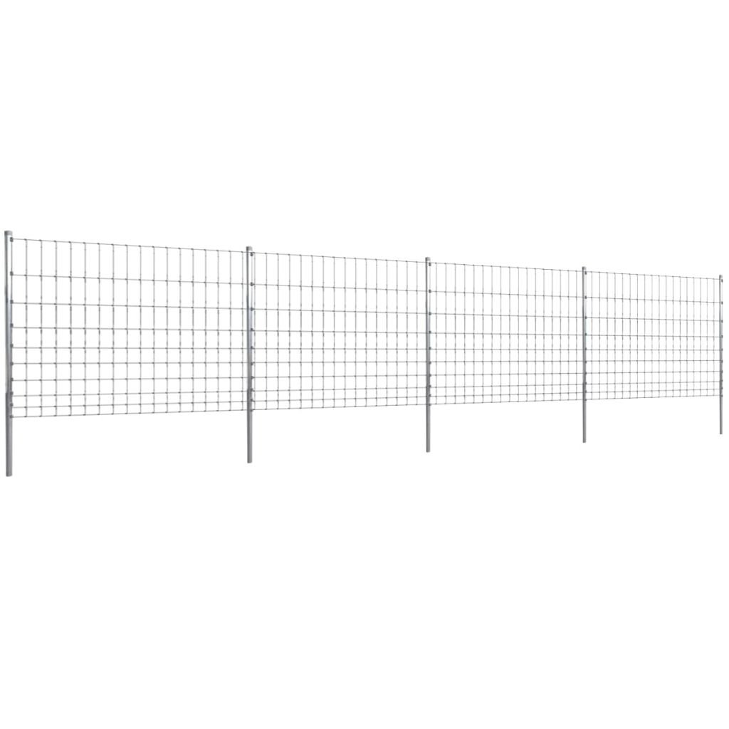 SENLUOWX Close 50 m with Post Galvanised Wire Fence 120 10 15