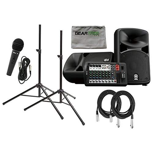Yamaha STAGEPAS 600BT Portable PA System (with Bluetooth) w/ Cloth, Microphone, by Yamaha