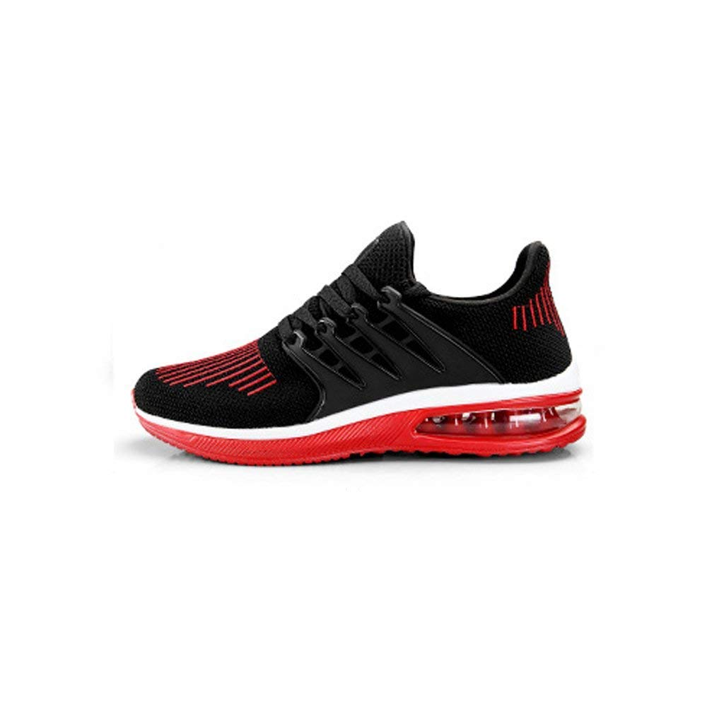 Herrenschuhe Sommer Breathable New Trend Wild Sport Schuhe Mesh Tide Schuhe Sport Herren Deodorant Mesh Schuhe Schwarz Rot (Farbe   Schwarz und Rot, Größe   39) 0a8063