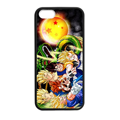 JUDUIDODO Japan Anime Dragon Ball iPhone 5,5s Plastic & TPU Cases (Laser Technology) (Note 3 Manchester United Case)