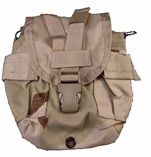 Excellent 1 QT CANTEEN Pouch - MOLLE II - US Army Tri Color Desert Camo - USGI