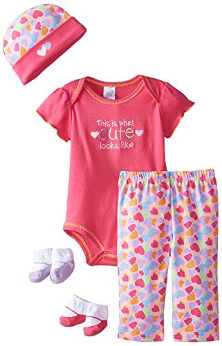 Baby Essentials Baby-Girls Newborn What Cute Looks Like 5 Piece Playwear Set