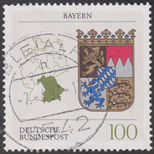 Bayern Coat of Arms 100 Germany Cancelled Postage Stamp (Bayern Coat)