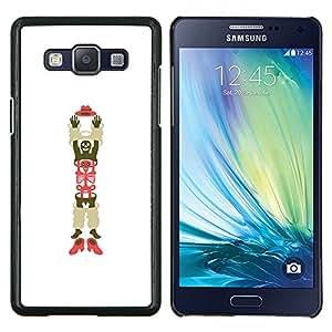 Arte Esqueleto Hombre Sombrero Zapatos- Metal de aluminio y de plástico duro Caja del teléfono - Negro - Samsung Galaxy A5 / SM-A500