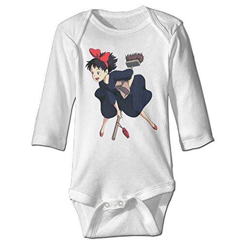 Kiki's Delivery Service Original For Baby Climbing Long Sleeved Clothing White