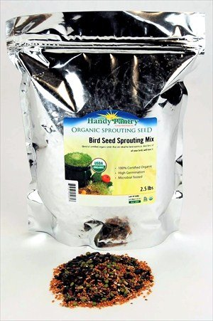 Organic Birdseed -2.5 Lbs- Bird Seed Mix for Small, Medium and Large Birds- Feed for Songbirds, Parakeets, Parrots, etc., My Pet Supplies