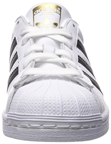 Adidas Originals Women's Superstar W Sneaker, Ftwr White, Core Black, Gold Met, 8 M US