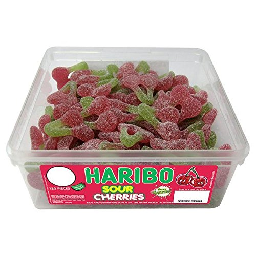 Haribo Sour Cherries (Tub of 120)