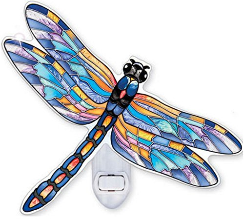 AMIA - Four Spotted Pennant Blue Dragonfly Nightlight