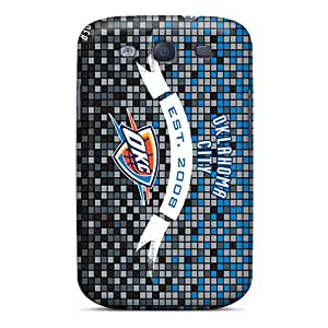 High Quality Hard Phone Cover For Samsung Galaxy S3 (QjK16708Fuiz) Customized High-definition Oklahoma City Thunder Pattern