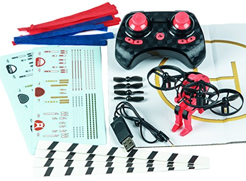 Rage RC 4501 Jetpack Commander Ready to Fly RC Multirotor, Red