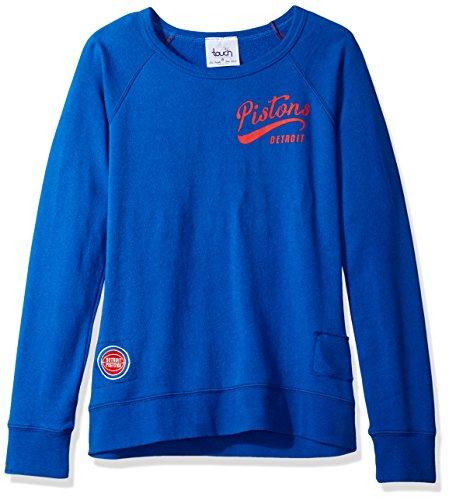 NBA Detroit Pistons Women's Dugout Reversible Pullover Sweatshirt, Large, Royal (Detroit Pistons Womens Hoodie)