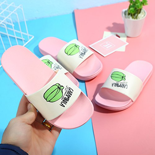 JAGETRADE Charming Casual Fruit Beach Prevent Slippery Parent-Child Slippers Pink6 Pink4 zcNEkt19