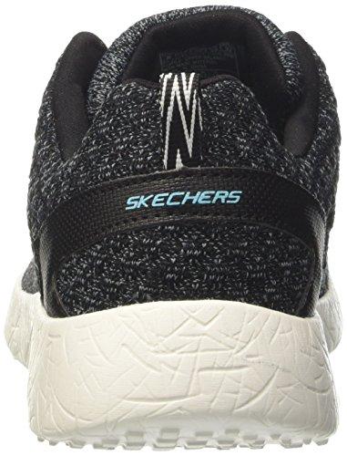Skechers Burst-Hats Off, Zapatillas para Mujer Negro (BKW)