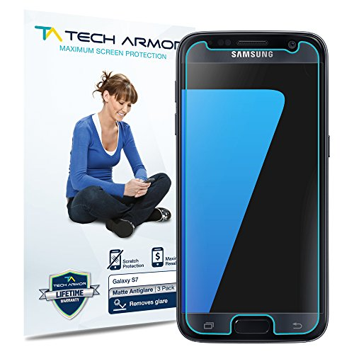 Galaxy S7 Screen Protector, Tech Armor Anti-Glare/Anti-Fingerprint Samsung Galaxy S7 Film Screen Protector [3-Pack]