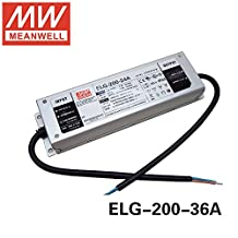 MEAN WELL Power Supply ELG-200-36A 200W 36V 5.55A IP67 Dimmable LED Driver ELG-200 A type