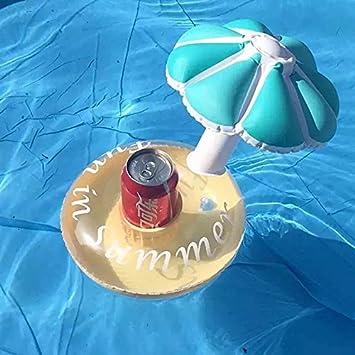 Yiwa hinchable seta paraguas soporte para bebidas Creative fiesta en la piscina posavasos taza soporte de