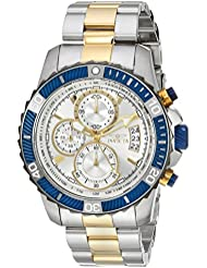 Invicta Mens Pro Diver Quartz Stainless Steel Casual Watch, Color Two Tone (Model: 23994)