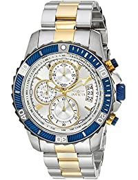 Men's 'Pro Diver' Quartz Stainless Steel Casual Watch, Color:Two Tone (Model: 23994)