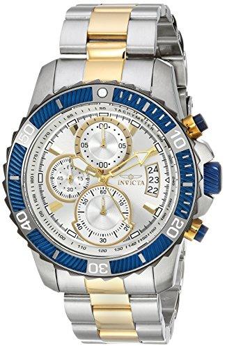 인빅타 Invicta Mens Pro Diver Quartz Stainless Steel Casual Watch, Color:Two Tone (Model: 23994)