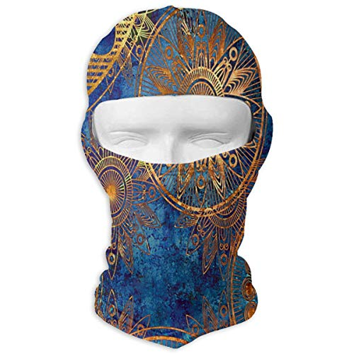 YIXKC Balaclava Vintage Wallpaper Unique Motorcycle Cycling Bike Bandana Skiing for Adults ()