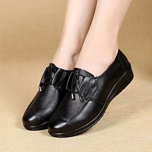 KHSKX Schuhe Thirty Die nine Schuhe Lederschuhe Up Von Alte Lace Der Mutter Alleinerziehende In Sturz Schuhe rPwq6rz