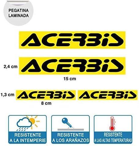 4 Unit/és de Autocollant Compatible avec Acerbis Plastifi/ée Impression Digital